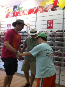 Shoe shopping with Akiva. A joyous occasion.