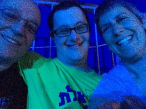 Ira, Akiva, and Beth at the circus.